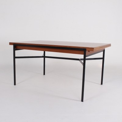 Expendable modernist dining table by René Jean Caillette