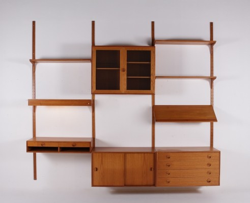 Wall unit with illuminated desk by HG Furniture