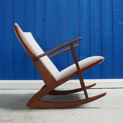 Danish Model 97 Rocking Chair in Teak Wood by Søren Georg Jensen for Tønder Møbelvaerk