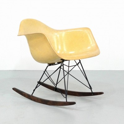 Rope Edge RAR rocking chair by Charles & Ray Eames for Herman Miller, 1950s