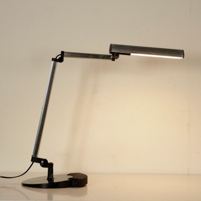 Arteluce Metal & Aluminium Table Lamp by Ezio Didone, 1980s