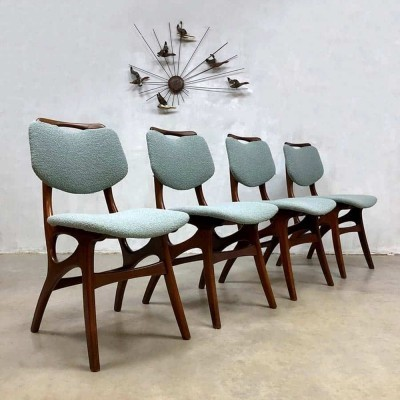 Set of 4 Vintage Dutch design dining chairs by Pynock Wierden