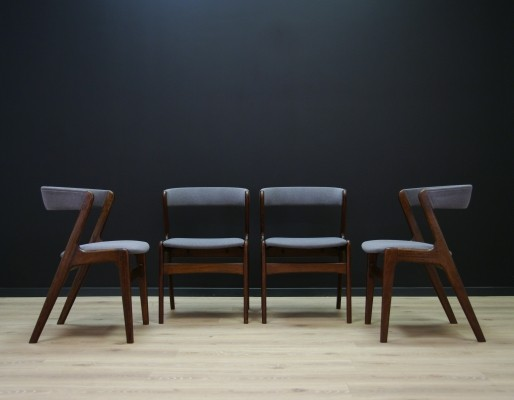 Set of 4 Kai Kristiansen arm chairs, 1970s