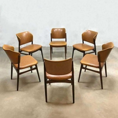 Vintage Danish style dining chairs, 1970s