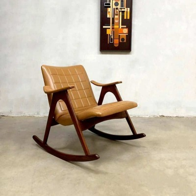 Midcentury design rocking chair by Louis van Teeffelen for Webe