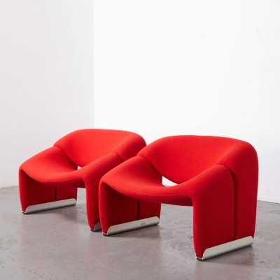 Pierre Paulin Pair of 'F598 or M' Easy Chairs for Artifort, 1972