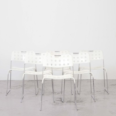 Set of 6 Omstak Chairs by Rodney Kinsman for Bieffeplast, 1971