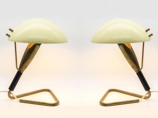 Pair of Labeled Stilnovo Table Lamps, 1950s