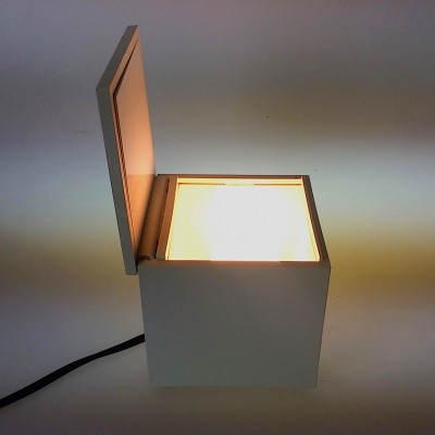 Cubo Luce desk lamp by Franco Bettonica & Mario Melocchi for Opi, 1970s