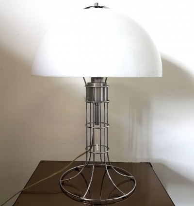 Space age chrome & plastic table lamp by Herda Netherlands, 1970s