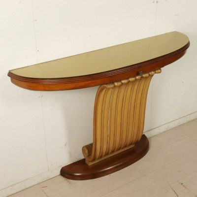 Wall Mounted Console in Mahogany, Italy 1940s-1950s