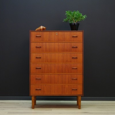 Vintage Danish design chest of drawers in teak