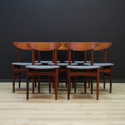 Set of 7 vintage dinner chairs, 1970s