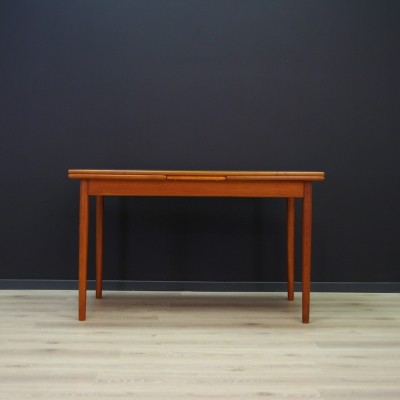 Scandinavian design dining table in teak