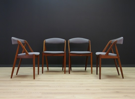 Set of 4 Kai Kristiansen dinner chairs, 1970s