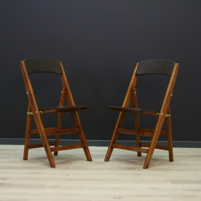 Pair of folding chairs, 1970s