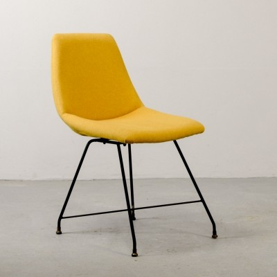 Italian Design Yellow 'Aster' Chair by Augusto Bozzi for Saporiti, Italy 1956