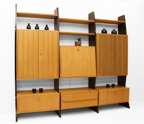 Selfstandig wall unit from the fifties by Erich Stratmann