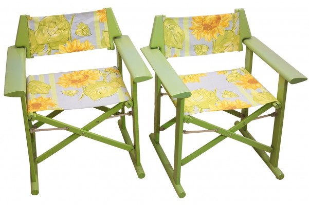 Pair of Italian Director Chairs from Fratelli Reguitti