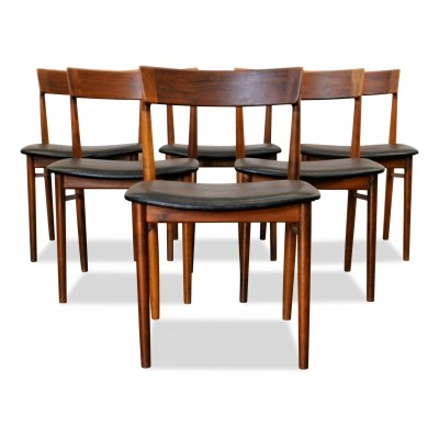 Set of 6 Vintage Henry Rosengren rosewood dining chairs, 1960s
