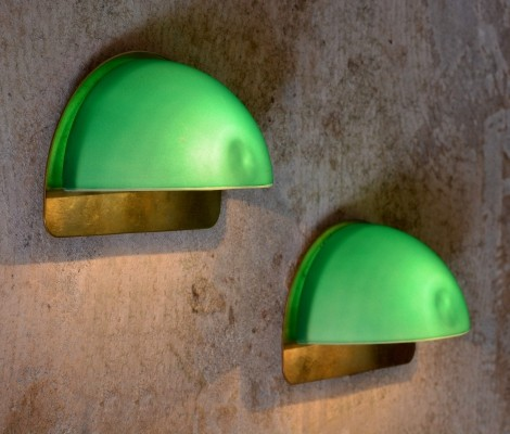 Pair of Maldini wall lamps by Darø Belysning, 1970s