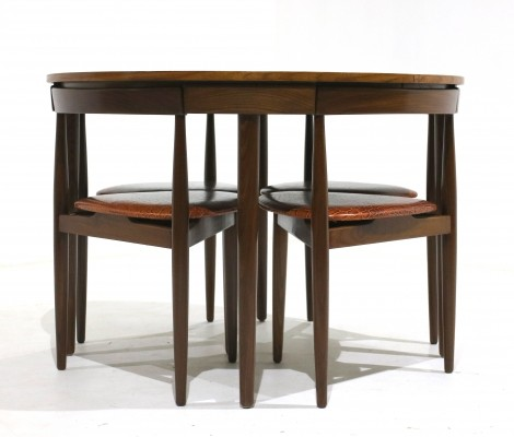 Danish dining table set by Hans Olsen for Frem Rojle, 1960s