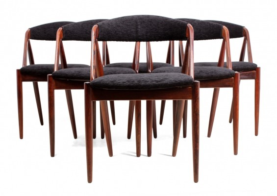 Set of 6 Model 31 dining chairs by Kai Kristiansen, 1960s