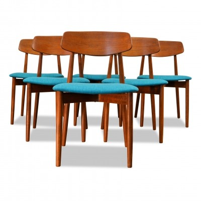 Vintage Danish design Harry Ostergaard teak dining chairs