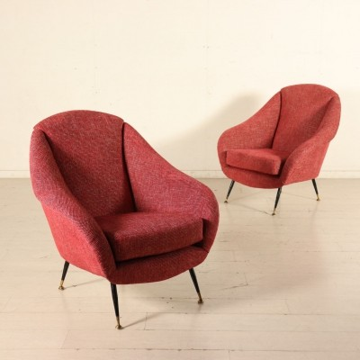 Pair of Armchairs, Italy 1960s