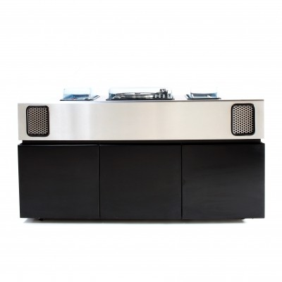 Rare 'Batman' music sideboard with cooling Bar by Adalberto Dal Lago for Giuseppe Rossi