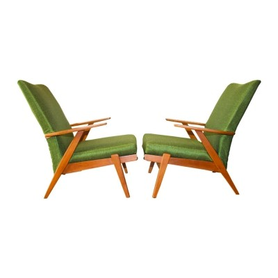 Two rare British P802 (PK737 model) armchairs from Parker Knoll, 1960s