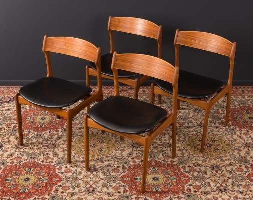 Set of 4 Danish dining chairs by Eric Buch for O.D. Møbler, 1950s