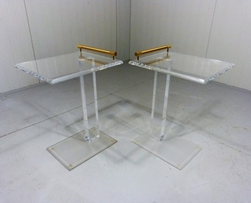 Pair of vintage side tables, 1980s
