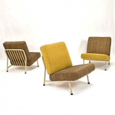 3 x model 013 lounge chair by Alf Svensson for Dux, 1950s