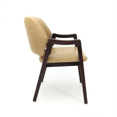 Leather 814 armchair by Ico Parisi for Cassina, 1960s