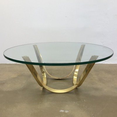 Golden Round Mid-Century Coffee Table by Roger Sprunger for Dunbar