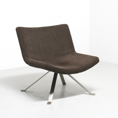 Easy chair with legs in flat steel, 1960s
