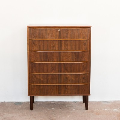 Danish chest of 6 drawers in rosewood, 1960s