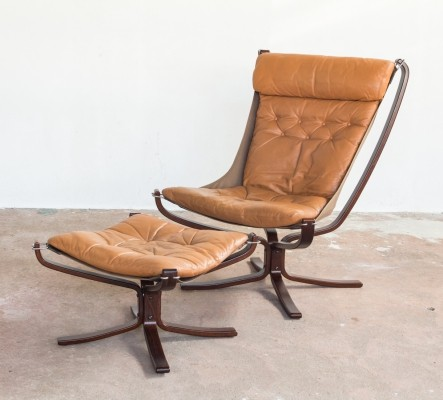 Falcon Chair & Ottoman by Sigurd Resell for Vatne Møbler, 1970s