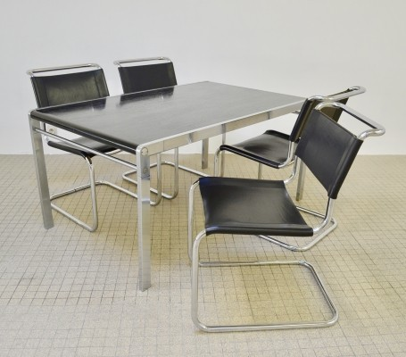 Vintage Thonet S33 dining chairs + 't spectrum te23 table, 1970s