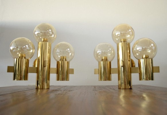 Pair of vintage design wall lamps by Hans Agne Jakobsson, 1960s