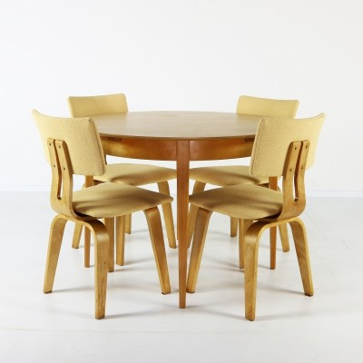 SB03 dining set by Cees Braakman for Pastoe, 1960s