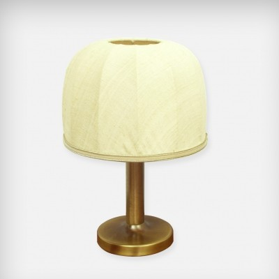 Small Brass & Fabric Desk Lamp, 1970s