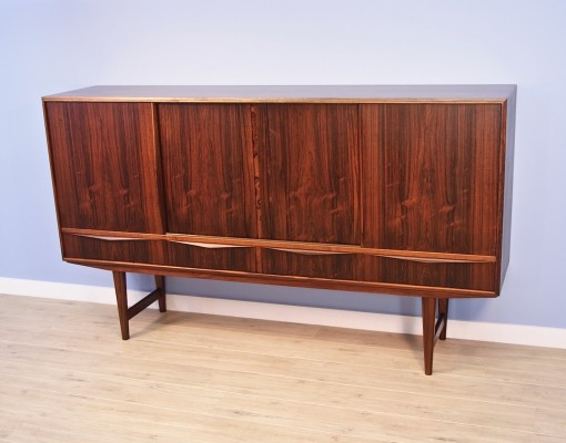 Danish highboard in rosewood by E.W. Bach for Sejling Skabe, 1960s