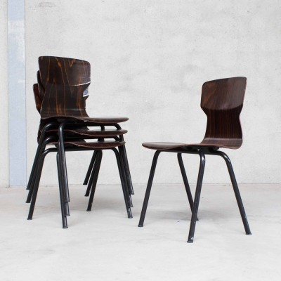 Eromes 'OBO' Side Chairs in Plywood
