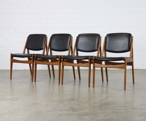 4 x dinner chair by Arne Vodder for Vamo Sønderborg, 1950s