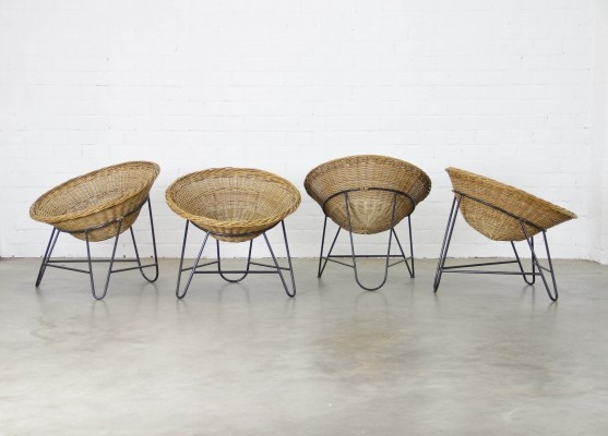 4 x vintage lounge chair, 1950s