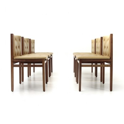 Set of 6 Dining chairs by Tito Agnoli for La Linea, 1960s