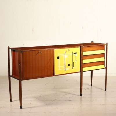 Lacquered Mahogany Sideboard with Drawers, 1960s