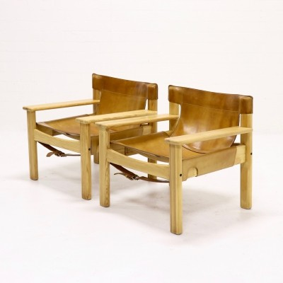 Set of 2 Natura Safari Lounge Chairs by Karin Mobring for Ikea, 1970s